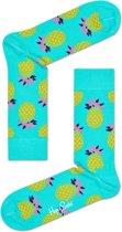Happy Socks Pineapple Sokken - Mintgroen - Maat 41-46