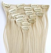 Clip in hairextensions 7 set straight grijs - Grey