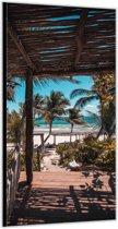 Dibond –Tropisch Strand– 100x200cm Foto op Aluminium (Wanddecoratie van metaal)