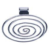 Zilveren Spiraal groot ketting hanger