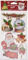 Kerst decoratie 3D raamstickers type 3 20 x 45 cm