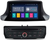 Renault megane / fluence 2008 - 2015 Android 8.1 navigatie quad core 7 inch custom fit