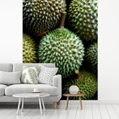 Fotobehang vinyl - De uniformiteit van de unieke doerian vrucht breedte 175 cm x hoogte 240 cm - Foto print op behang (in 7 formaten beschikbaar)