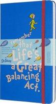 Moleskine 18 maanden agenda 2019-2020 -  Dr. Seuss - Wekelijks - Large (13,5 x 21 cm) - Blauw - Harde kaft