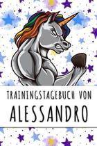 Trainingstagebuch von Alessandro: Personalisierter Tagesplaner f�r dein Fitness- und Krafttraining im Fitnessstudio oder Zuhause