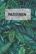 Mazedonien: Punktiertes Reisetagebuch Notizbuch oder Reise Notizheft Gepunktet - Reisen Journal f�r M�nner und Frauen mit Punkten