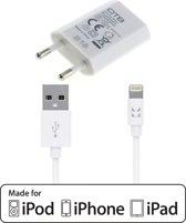 IONIKK Apple Lightning kabel met OTB lader voor iPhone 7 / 6 / 5