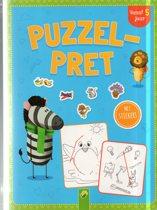 boek puzzelpret vanaf 5 jaar met kleurpotloden