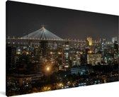 Skyline van Bombay Canvas 80x40 cm - Foto print op Canvas schilderij (Wanddecoratie woonkamer / slaapkamer)