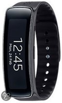 Samsung Galaxy Gear Fit activity tracker - Zwart met siliconen band