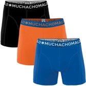 MuchachoMalo - Heren 3-pack Boxershorts Blauw Oranje Zwart - L