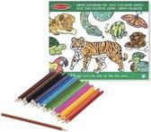 Dieren kleurboek met kleurpotloden set