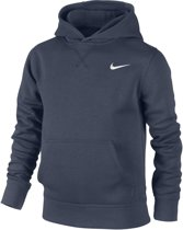 Nike YA76 Brushed Fleece Hoody Junior Sporttrui casual - Maat S  - Unisex - blauw  Maat S - 128/140