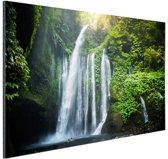 Waterval Lombok Indonesie Aluminium 120x80 cm - Foto print op Aluminium (metaal wanddecoratie)