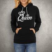 His Queen Hoodie| Zwart | Medium