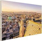 Wenen vanuit een hoog punt Hout 60x40 cm - Foto print op Hout (Wanddecoratie)