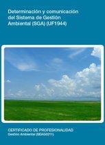 UF1944 - Determinacion y comunicacion del Sistema de Gestion Ambiental (SGA)