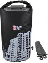 Overboard Drybag Urban Safe Cityscape 20 liter - zwart