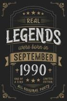 Real Legends were born in September 1990