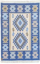 Kaira Vloerkleed - Blauw - 120x180 - van Okashi Heritage