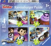 Ravensburger Disney Miles from tomorrow Vier puzzels 12 16 20 24 stukjes
