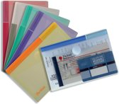 9x Tarifold documentenmap Collection Color voor A6 (165x109mm), pak a 6 stuks
