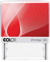 4x Colop stempel met voucher systeem Printer Printer 30, max. 5 regels, voor Nederland, 47x18mm
