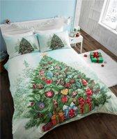 Kerst dekbedovertrek - Kerstboom - Christmas Tree - eenpersoons met 1 kussensloop