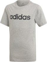 adidas Youth Boys Essentials Linear Slim T-shirt Junior  Sportshirt - Maat 152  - Unisex - grijs/zwart