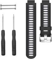 Siliconen Horlogeband voor Garmin Forerunner 235 / 220 / 230 / 620 / 630 / 735XT - Zwart Grijs