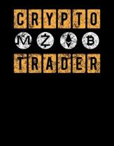 Crypto Trader: Vintage Crypto Trader Bitcoin Blank Sketchbook to Draw and Paint (110 Empty Pages, 8.5'' x 11'')