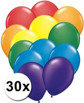 Regenboog ballonnen 30 stuks