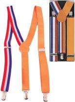 Bretels Rood-Wit-Blauw Oranje