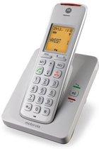 Motorola CD201 Uitgebreide Senioren Single Set - BE - DECT Telefoon met Handsfree en Display Verlichting - HAC -Wit