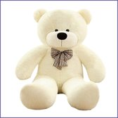 Witte knuffelbeer 140 cm