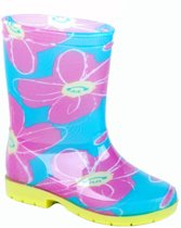 Gevavi Boots Lina meisjeslaars PVC turquoise/roze 23