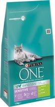 Purina ONE Sensitive - Kalkoen & Rijst - Kattenvoer - 3 x 1,5 kg