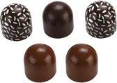 Mama Memo Chocoladebonbons Hout 3,5 Cm Bruin 5 Stuks