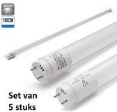 LED Buis 150CM 6400K |Daglicht | set van 5 stuks