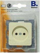 BERKER M2 stopcontact enkel, inbouw, zonder randaarde | CREME
