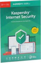 Kaspersky Internet Security | 3 Apparaten | 1 Jaar | Engelse verpakking | Alle Europese talen