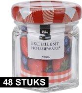 48x Inmaakpotten/weckpotten 45 ml met draaideksel - Jampotjes - Bewaarpotten