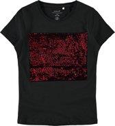 Name it Meisjes T-Shirt Korte Mouwen - Black - Maat 134-140