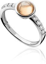 Zinzi - Zilveren Ring - Zirkonia - Champagne/Wit - Maat 54 ZIR927C54