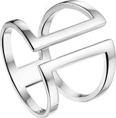 The Fashion Jewelry Collection Multi-ring - Zilver Gerhodineerd