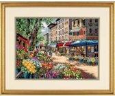 borduurpakket 35256 marktscene in parijs