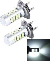 2 STKS H7 10W 900LM 8000K 42 SMD-2835 LEDs Auto Mistlampen, DC 12V (Wit Licht)