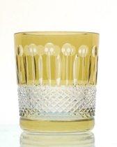Kristallen whiskeyglazen  - Whiskyglas CHRISTINE - light olive - set van 2 glazen - gekleurd kristal