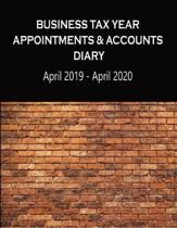 Business Tax Year Appointments & Accounts Diary April 2019 - April 2020