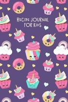 Recipe Journal for Kids: Blank Cookbook for Children to Write in - Purple Cupcakes